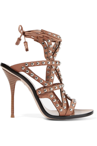 studded sandals leather sandals leather tan shoes
