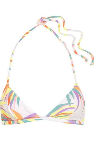 bikini bikini top white lilac swimwear