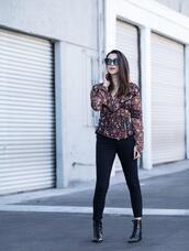 inspades,blogger,top,jeans,jewels,shoes,sunglasses