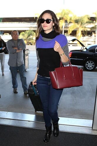 sweater emmy rossum fall outfits jeans