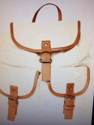 backpack bag school bag white