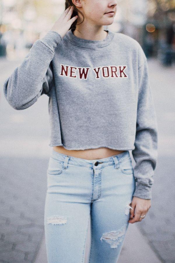 Brandy Melville Nancy New York Patch Sweatshirt