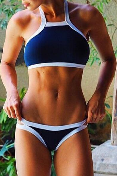 Contrast Trim Summer Best Seller Sexy Women's Bikini Swimwear