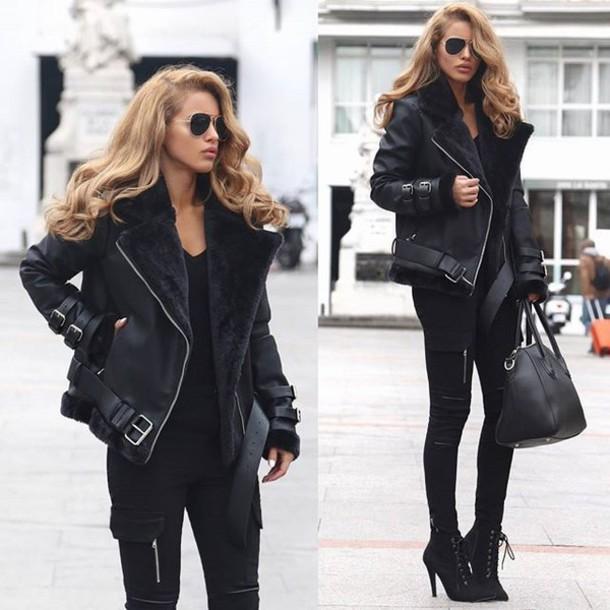 Jacket Maniere De Voir Women Fashion Style Trendy Leather