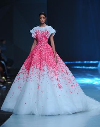 dress white pink princess amazing elegant party