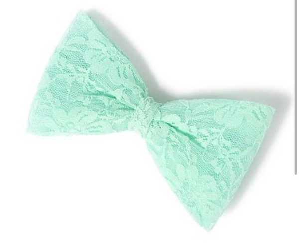 hair accessory claire's turquoise lace oversized mint bows