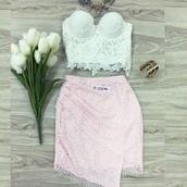 skirt,pink skirt,lace skirt,wrap skirt
