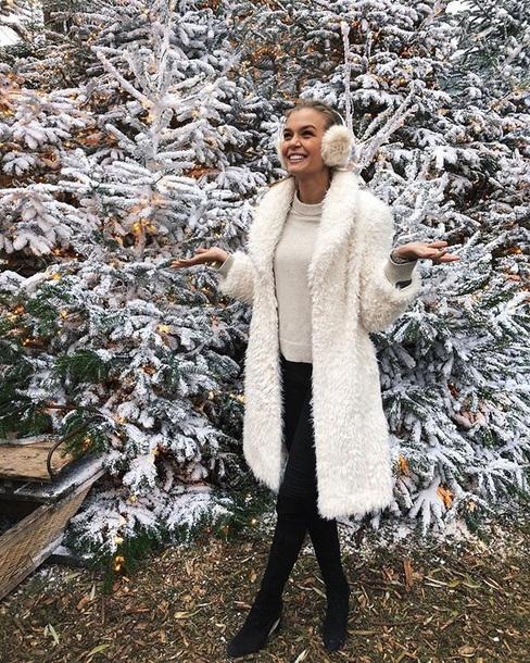 coat josephine skriver white fluffy
