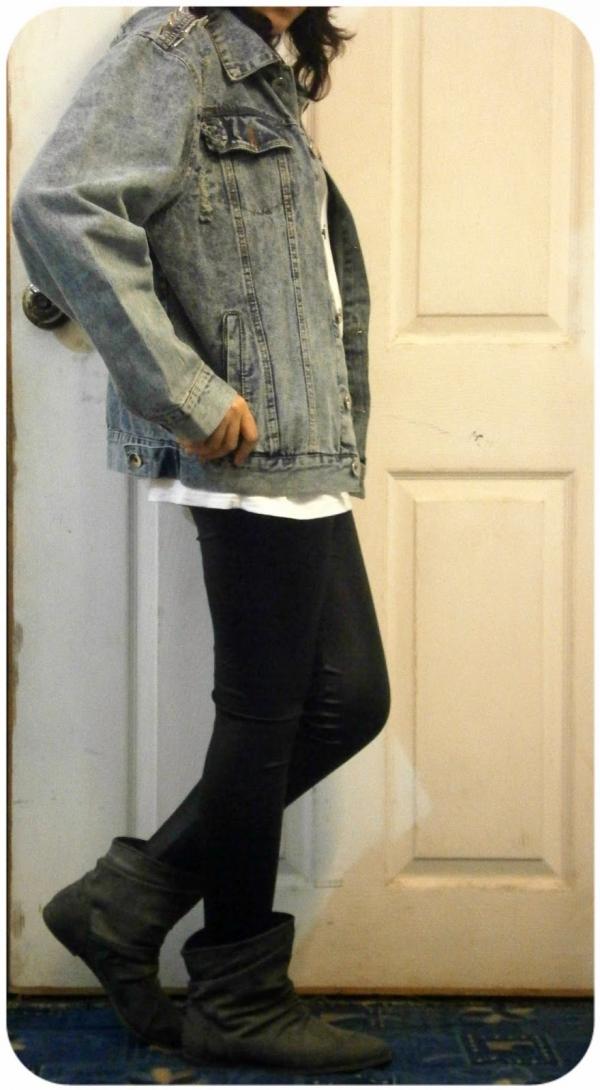 Fashion Studded Denim Jacket - OASAP.com
