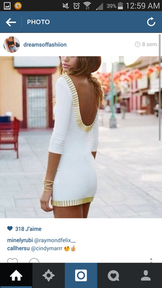 backless white dress backless dress white and gold dress summer dress party dress party cocktail dress coacktail white dress pretty girly outfit beach beach wedding dress beach dress dress robe robe blanche dos nu top wedding skirt zara dress