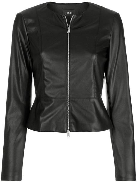 LIU JO jacket peplum jacket women black