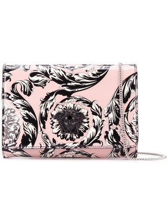 clutch purple pink bag