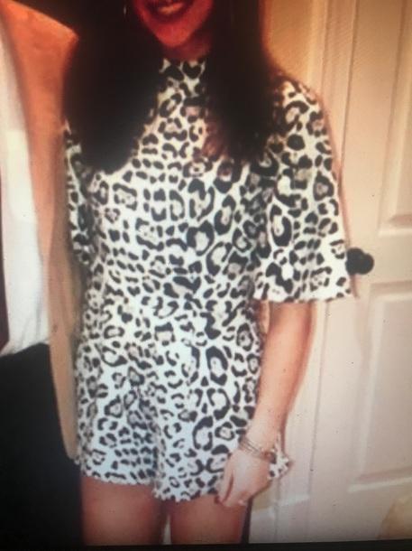 romper white and black leopard print