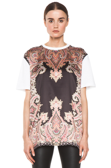 GIVENCHY | Block Print Paisley Tee in Multi