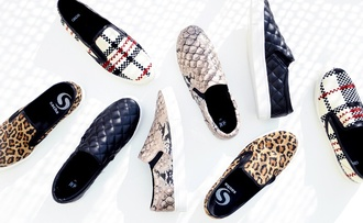 shoes slip on slip on shoes loafers snake print snake print shopper sneakers leopard print tartan