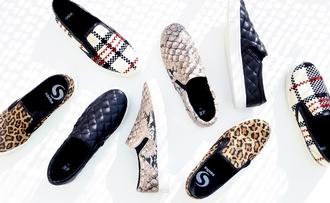 shoes slip on shoes loafers snake print snake print shopper sneakers leopard print tartan