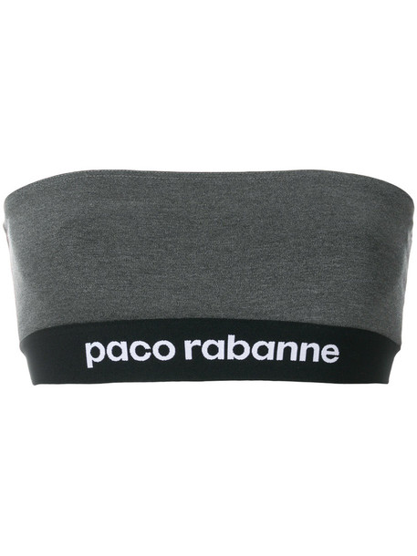 Paco Rabanne top bandeau top women spandex grey