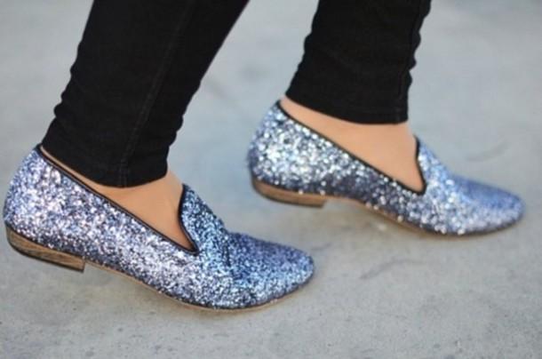 shoes sparkle flat boots