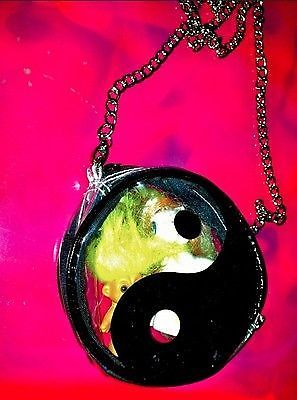 Mighty unif lil see through yin yang purse sling bag