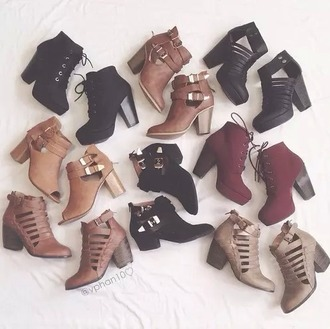shoes marron noir bottes ankle boots suede boots brown leather boots chelsea boots chunky heels booties black boots