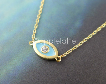 Popular items for evil eye necklace on Etsy