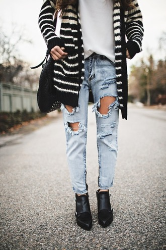 jeans sweater cardigan shoes bag t-shirt streetwear