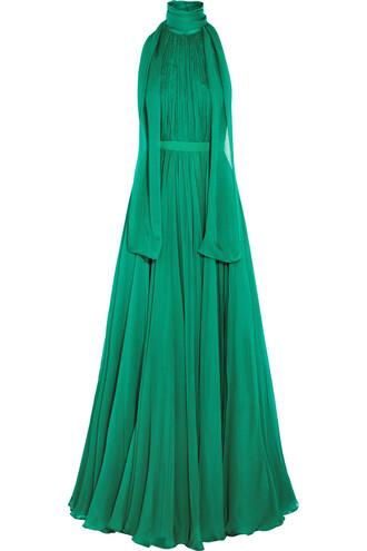 gown chiffon silk dress