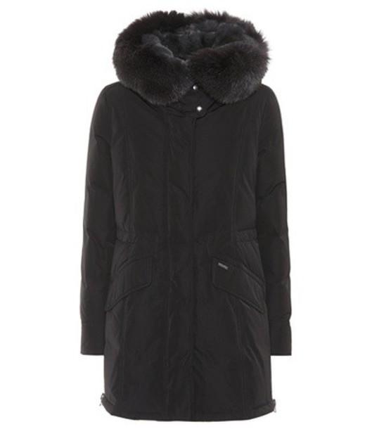 Woolrich coat fur black