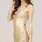 Streaks of gold bandage dress