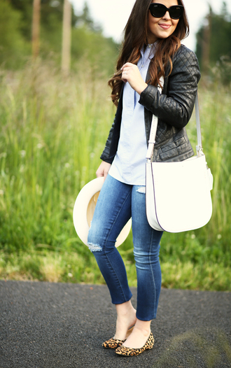 dress corilynn blogger jacket shirt jeans hat bag
