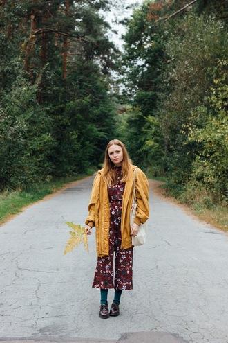 kristina magdalina blogger jumpsuit coat bag