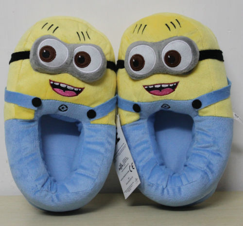"""Despicable me minion jorge character 11"""" shoe plush toy doll slippers one size"""