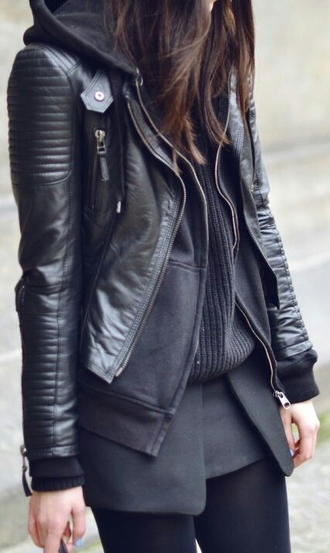 jacket zip dope all black everything