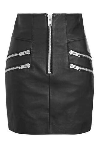 skirt mini skirt mini zip black