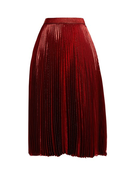 CHRISTOPHER KANE skirt pleated high red