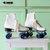 Vintage ROLLER SKATES...retro. pacer. rink master. roller skates. skating. shoes. roller derby. retro skates. blue. white. kitsch. ladies