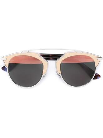 metal women sunglasses leather grey metallic