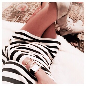 dress saul stripes striped dress black and white long sleeves monochrome minimalist long sleeve dress turtleneck