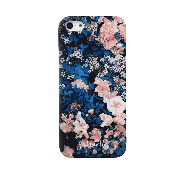 Blue floral iphone 5/5s case/ back order – holypink