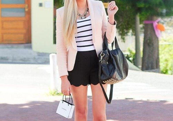 coat baby pink lovely sweet bag shorts