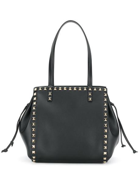 Valentino women leather black bag
