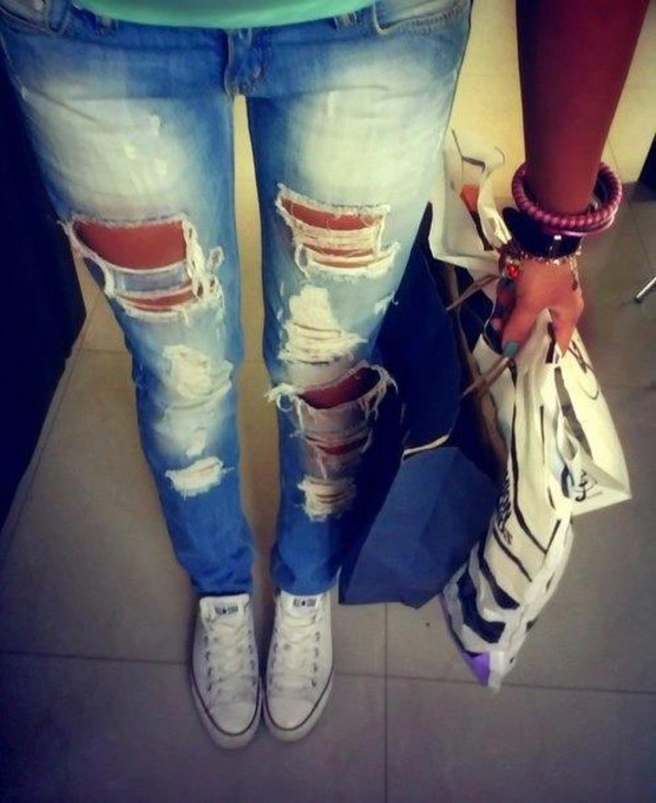 jeans hole jeans shoes cropped ripped acid wash denim
