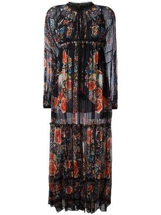 dress long dress long women cotton black silk