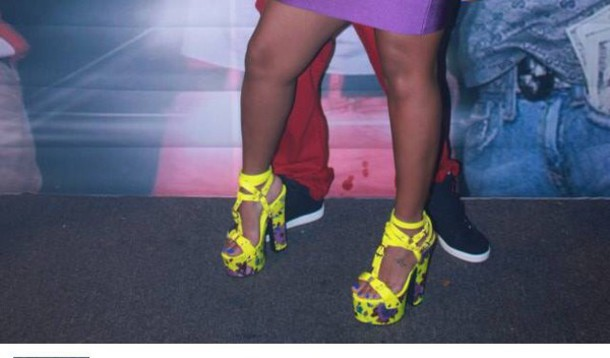 swag yellow platform sandals party shoes