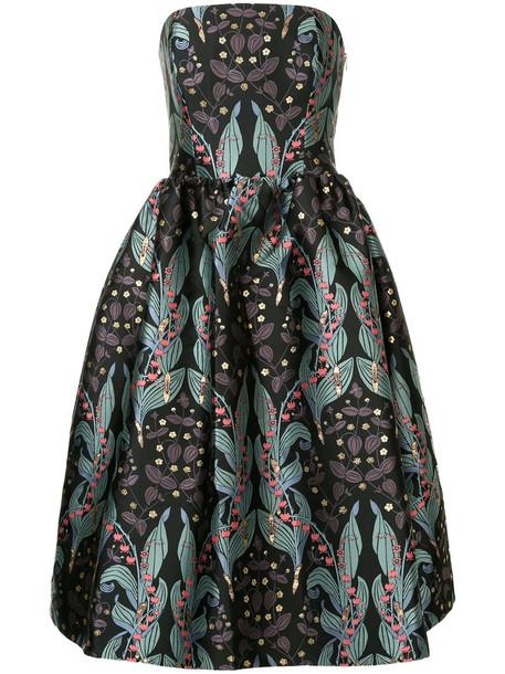 Ingie Paris dress women floral print black silk