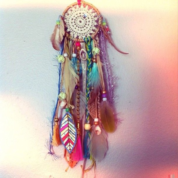 jewels boho dreamcatcher hippie gypsy feathers home accessory bedroom girly