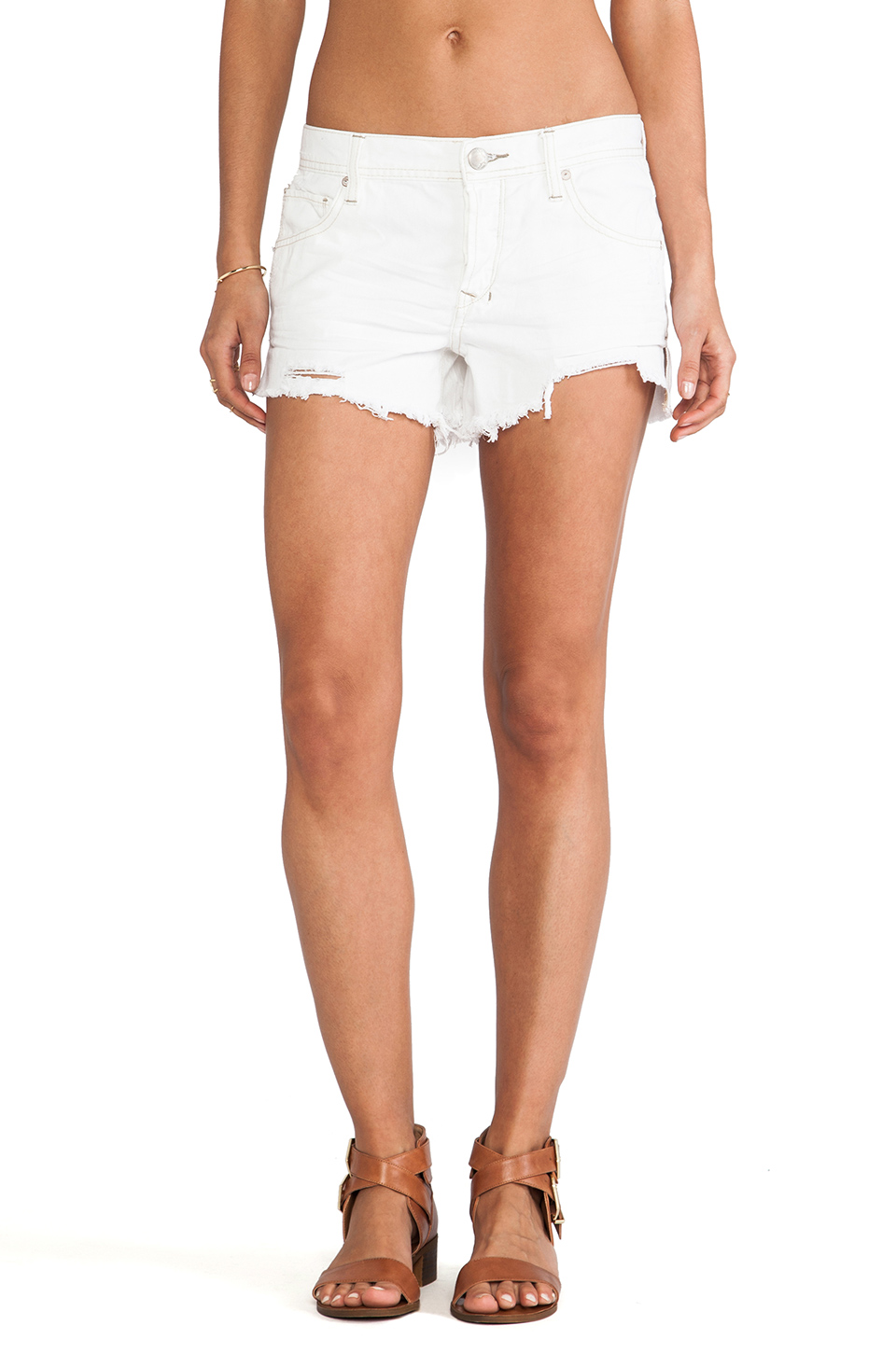 Free People Sharkbite Shorts in Polar White | REVOLVE