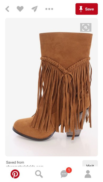 shoes fringe shoes brown boots