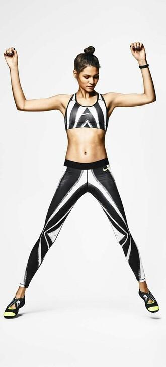 leggings sportswear black and white nike sports bra nike sports bra