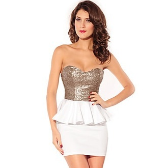 dress gold and white dress gold